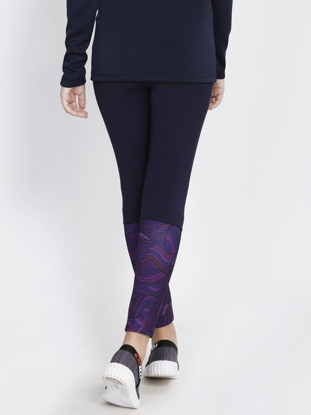 Navy Wave 2Tone Tights