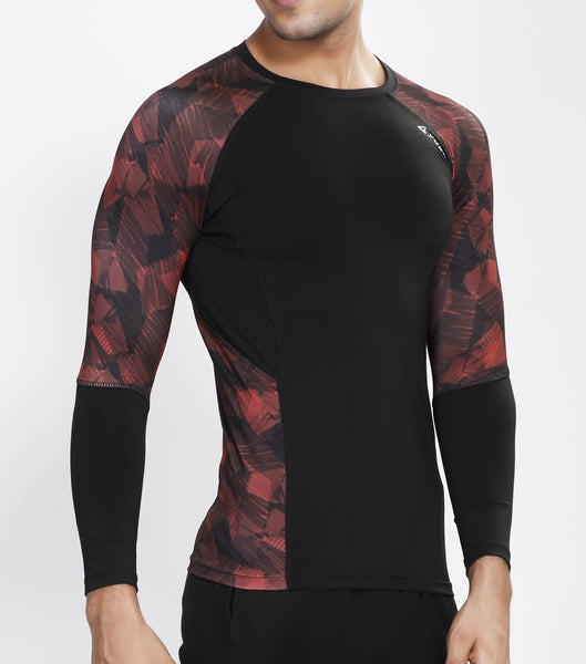Black Red Full Sleeve Compression
