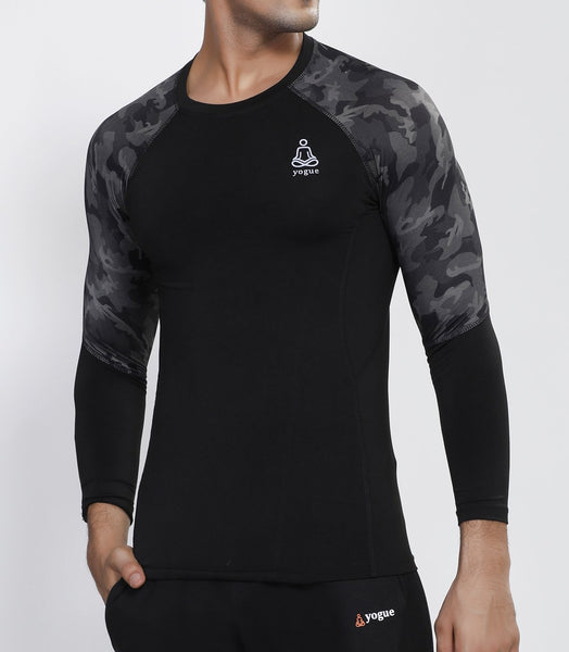 Camo Black Full Sleeve Compression