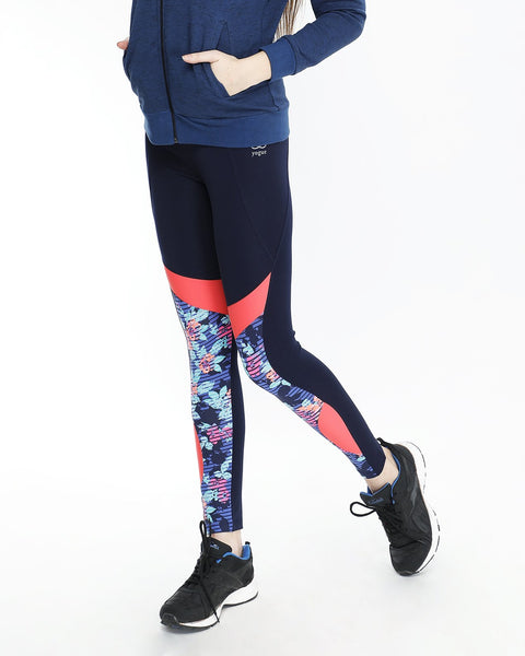 Dark Navy Tights with Red Detail