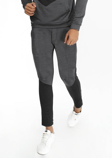 Charcoal Black Slim-Fit Trackpants