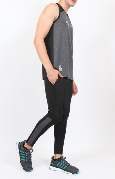 Black Men's Running Tights