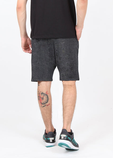Black Texture Long Shorts