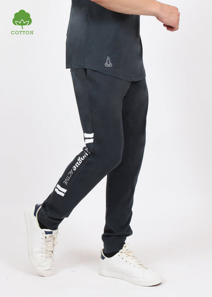 Charcoal Grey Cotton Joggers