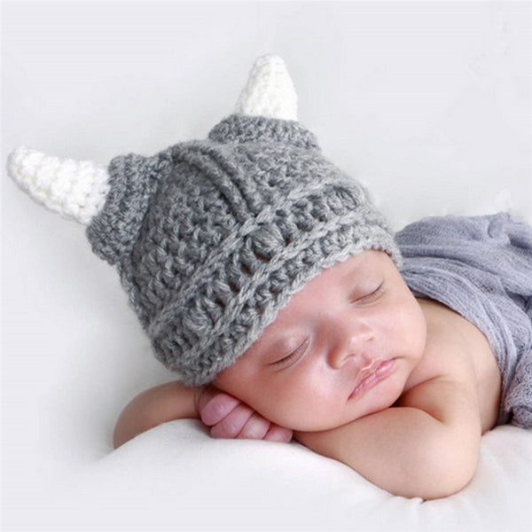 Baby Boy crochet Viking hat