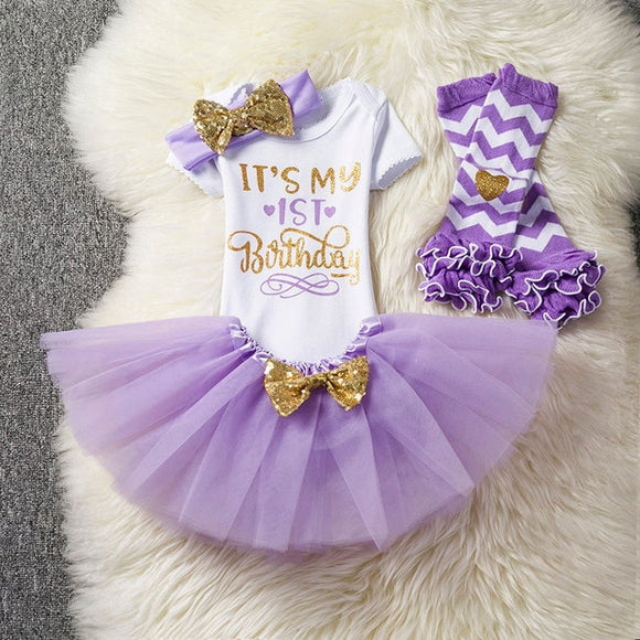 Unicorn Party it's my birthday baby dress- purple