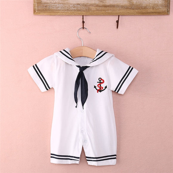Baby Boy Sailor One-piece Outfit
