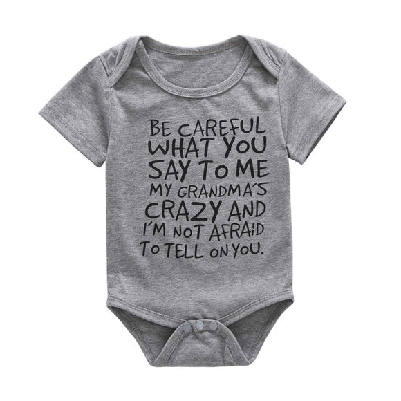 I got a Crazy Grandma Baby Grow!