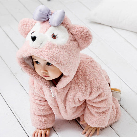 Funny Baby Onesie - Fluffy Bear with hood