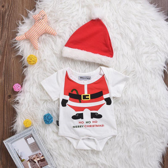Funny Santa Baby Grow with Hat