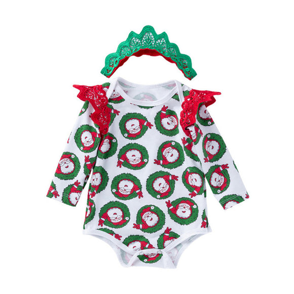 Festive Baby girl Bodysuit with Headband