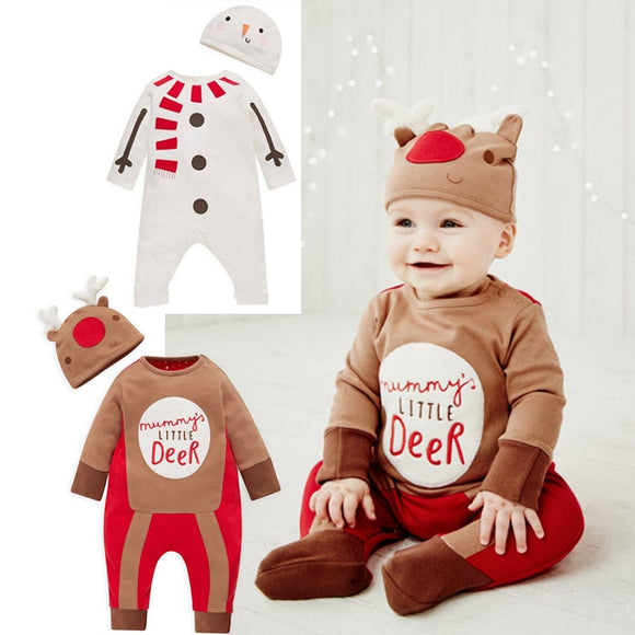 Funny Baby Christmas Elf or Snowman