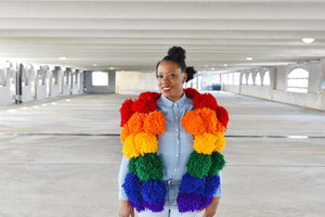 LORI LOVES...POM POM VESTS!!!