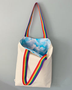 Clouds and Rainbows Tote Bag