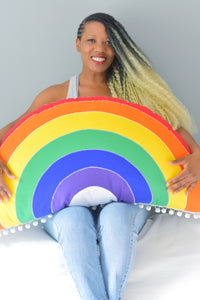 XL Rainbow Pillow
