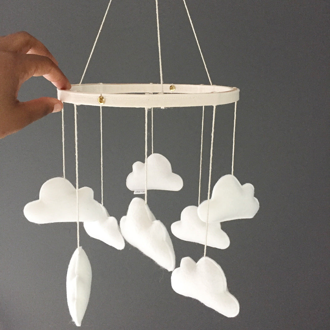 white cloud mobile