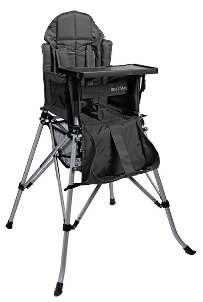 ONE2STAY Black Portable Adjustable High Chair (Min. of 4 mix and match)