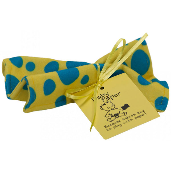 Yellow With Blue Dots Baby Paper (Min. of 6, multiples of 6)