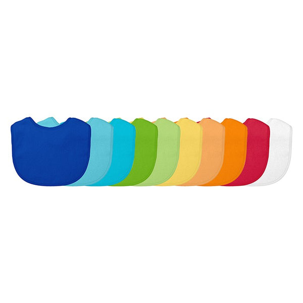 Stay-Dry Blue Set Bibs 10 PK (Min. of 6, multiples of 6)