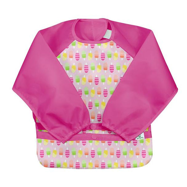 New! Snap & Go™ Easy-wear Long Sleeve Bib-Pink Popsicles (Min. of 6, multiples of 6)