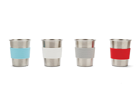 NEW! Red Rover Stainless Steel Cups silicone sleeve set of 4 (Min. of 2 sets)