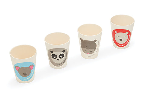 New! Red Rover BAMBOO fiber animal Cups set of 4 (Min. of 2 sets, multiples of 2)