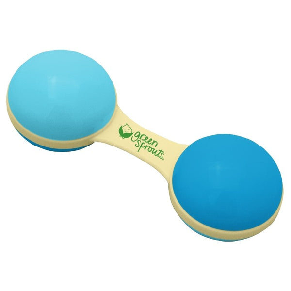 Sprout Ware® Blue Dumbbell Rattle Made From Plants (Min. of 6, multiples of 6)
