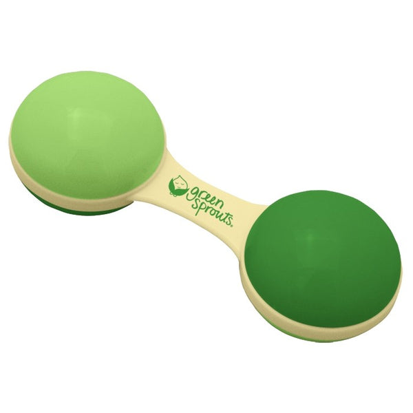 Sprout Ware® Green Dumbbell Rattle Made From Plants (Min. of 6, multiple of 6)