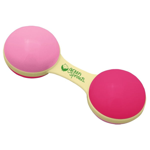 Sprout Ware® Pink Dumbbell Rattle Made From Plants (Min. of 6, multiples of 6)