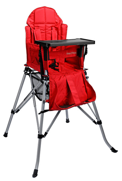 ONE2STAY Red Portable Adjustable High Chair (Min. of 4 Mix and Match)
