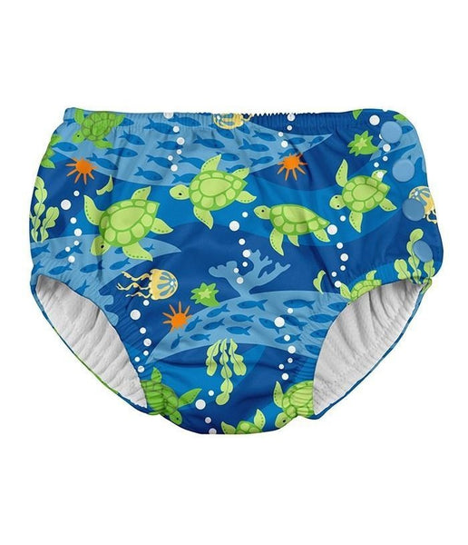 Snap Reusable Absorbent Swimsuit Diaper Royal Blue Turtle Journey (Min. of 2, multiples of 2)