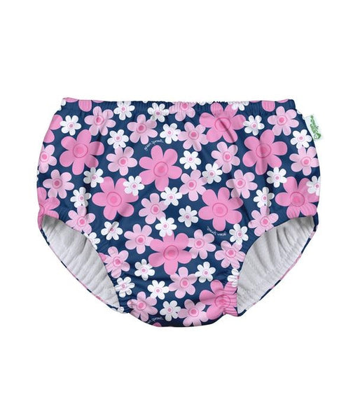Pull-up Reusable Absorbent Swimsuit Diaper Navy Blooms (Min. of 2, multiples of 2)