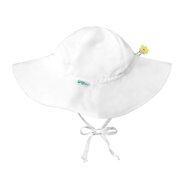In-Stock Brim Sun Protection Hat in White  (Min. of 3, multiples of 3)