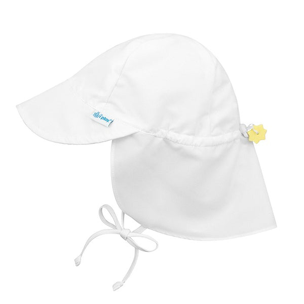 Flap Sun Protection Hat in White (Min. of 3)