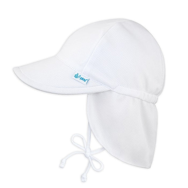 In-Stock Breathable Swim & Sun Flap Hat in White (Min. of 3)
