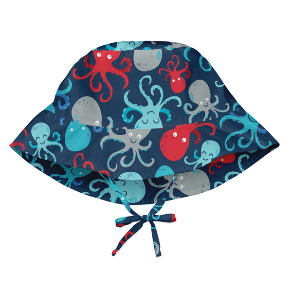 In-Stock Bucket Sun Hat -Navy Octopus (Min.of 3, multiples of 3)