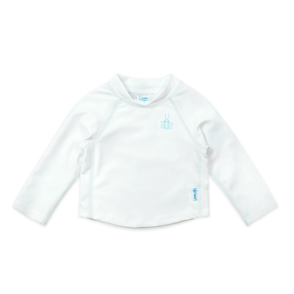 In-Stock Long Sleeve Rashguard in White (Min.of 2, multiples of 2)