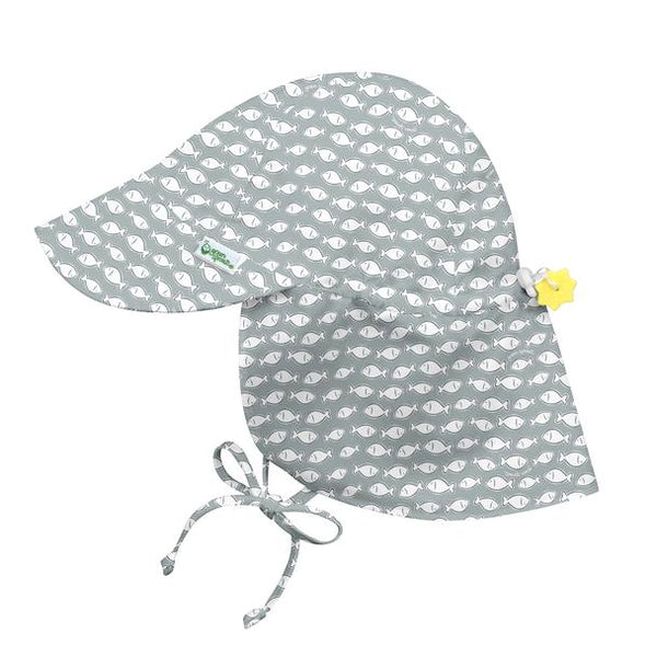 Flap Sun Protection Hat Gray Fish (Min. of 3, multiples of 3)