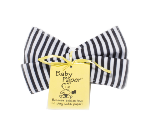 Black-White Stripe Baby Paper (Min. of 6, multiples of 6)