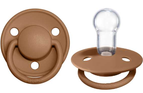 BIBS Pacifier De Lux Silicone 2 PK Earth ONE SIZE (Min. of 4 PK, multiples of 4 PK)