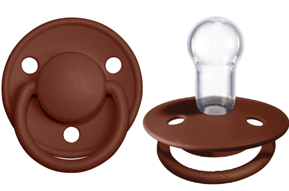 BIBS Pacifier De Lux Silicone 2 PK Rust ONE SIZE (Min. of 4 PK, multiples of 4 PK)