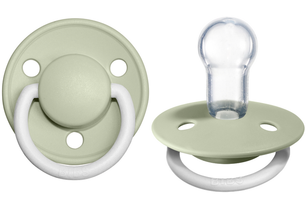 BIBS Pacifier De Lux Silicone 2 PK Sage Night ONE SIZE (Min. of 4 PK, multiples of 4 PK)