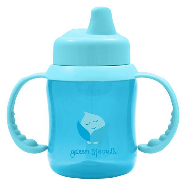 Non-spill Sippy Cup-Aqua-6/12mo (Min. of 6, multiples of 6)