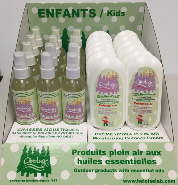 Citro Bug mosquito repellent Display  Health Canada certified (Min. of 1, multiples of 1)