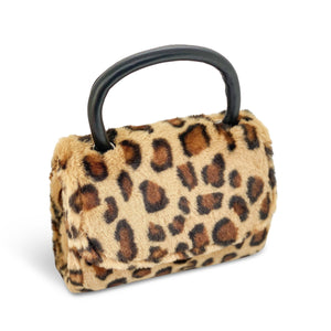 Tan Faux Fur Leopard Bag