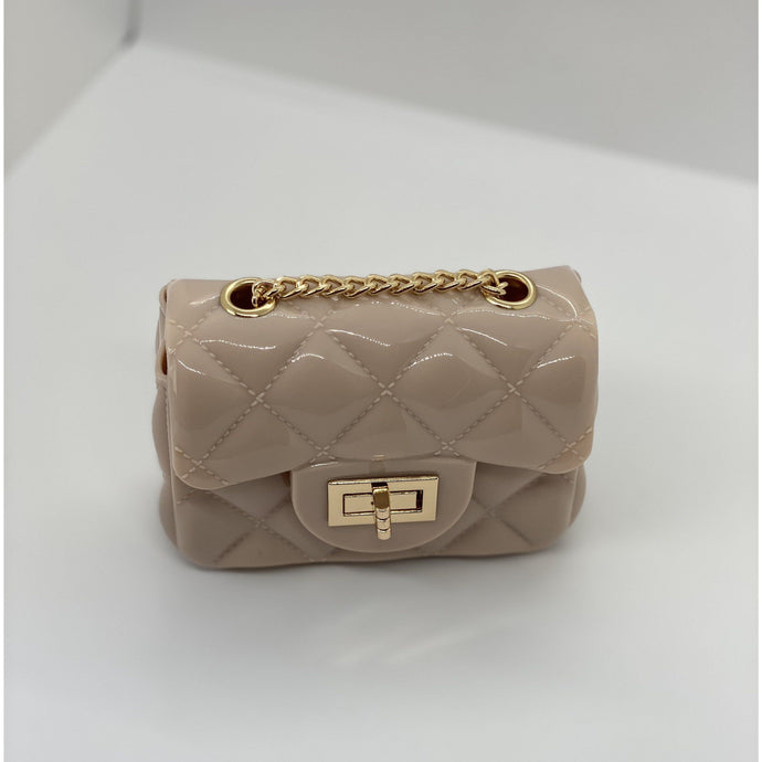 Dim Gray Jelly Quilt Mini Bag (Nude)
