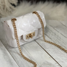 Gray Jelly Quilt Mini Bag (White)