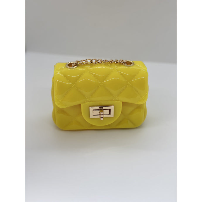 Dark Goldenrod Jelly Quilt Mini Bag (Yellow)