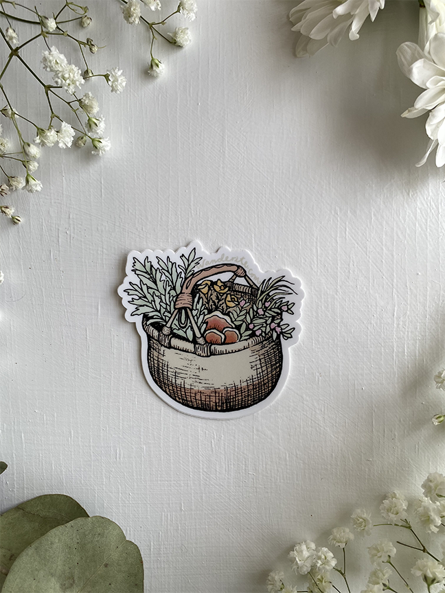 Wildcraft Herb Basket Sticker