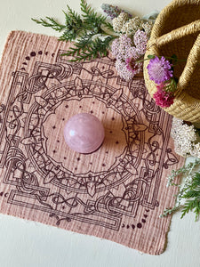 Bandana | Moon Yantra | Plant Dyed | Rose | SALE
